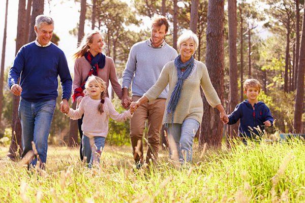 Happy family otudoors
